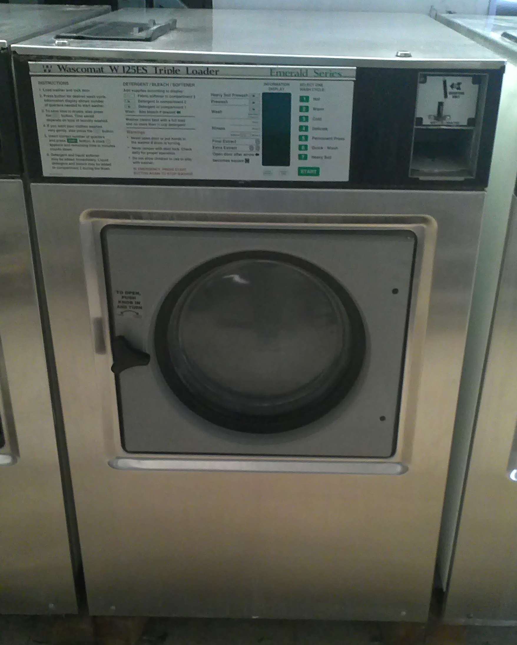 Wascomat W74 front load washer Junior W74 ...