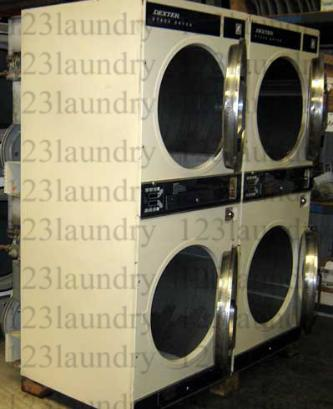 dryers 123laundry com dexter 30lb stack dryer dl2x300 model dl2x300 capacity 30 lb notes almond finish used in good working condition 4 machines available