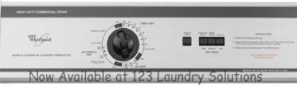 Whirlpool Heavy Duty Commercial Top Load Washer model CAM2742TQ